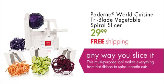 Bed bath and beyond yum you 39 ll definitely want these - Paderno world cuisine tri blade spiral vegetable slicer ...