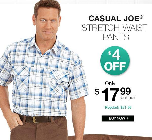Shop Men's Casual Joe® Stretch Waist Pants