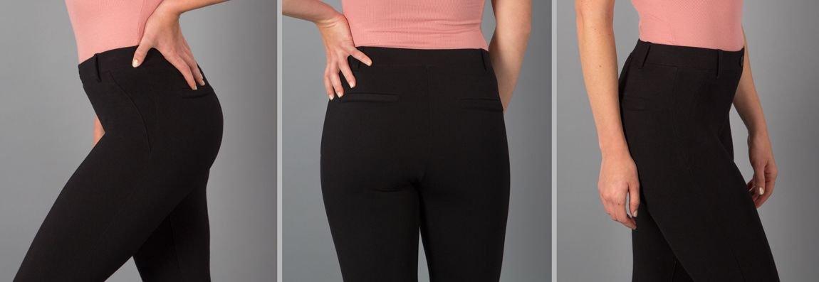 Black dress pant yoga pants