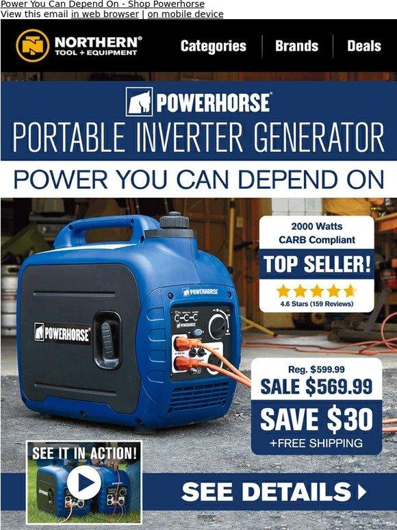 NorthernTool com: Powerhorse Inverter Generator: Save $30 + Free