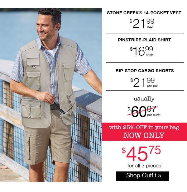 Shop Men's Stone Creek Shorts Outfit
