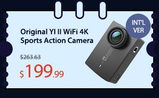 Original YI II WiFi 4K Sports Action Camera (INT'L VER)