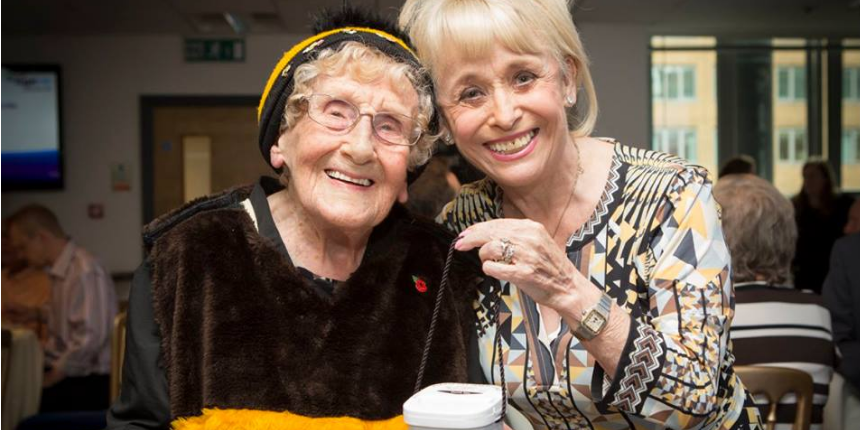 Jean Bishop with Barbara Windsor