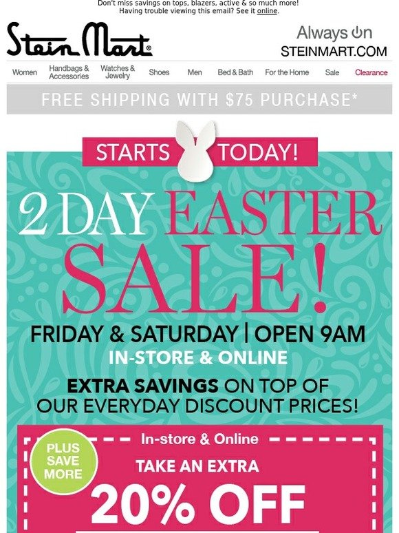 Awesome Stein Mart 2 Day Easter Sale Starts Today Milled Complete Home Design Collection Epsylindsey Bellcom