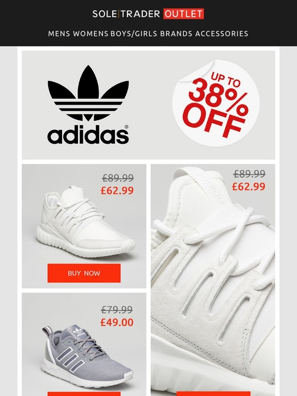 dab3635aa Soletrader Outlet  Earn your stripes - up to 38% off adidas