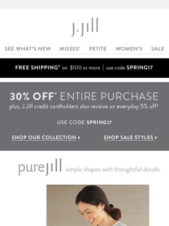 Jjill coupons free shipping