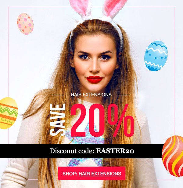 Hairtrade Happy Easter Hair Extension Sale Milled