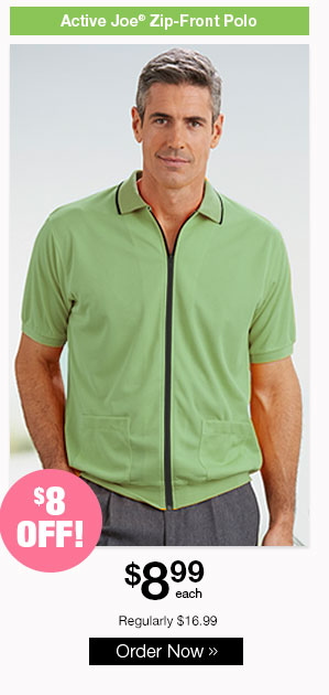 Active Joe Zip-Front Polo