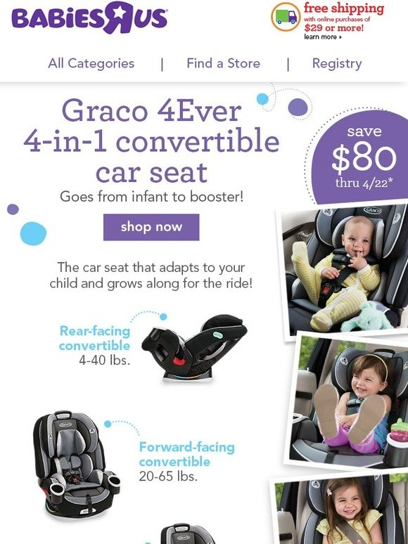 babies r us wow save 80 on graco 4ever convertible car seat milled. Black Bedroom Furniture Sets. Home Design Ideas