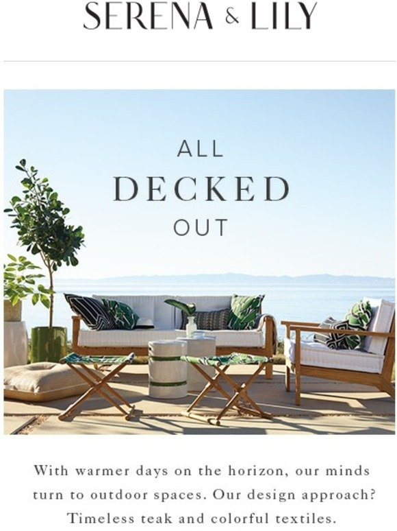 Serena and lily now 20 off new outdoor decorating ideas for Serena and lily coupons