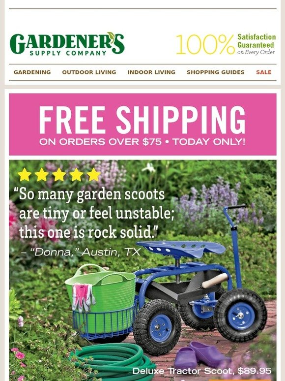 Gardener 39 s supply company all star scoot milled for Gardeners supply company