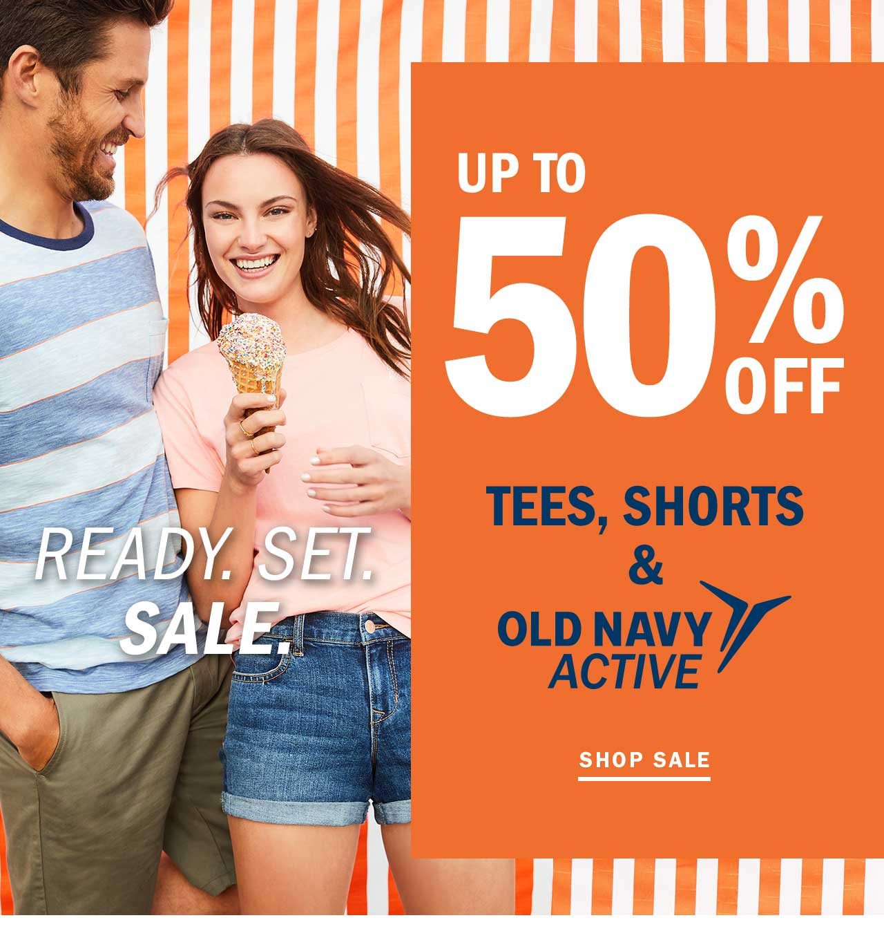 Old Navy: 😆 Up to 50% OFF tees, shorts & activewear: You earned it ...