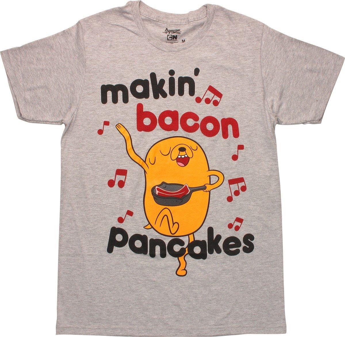 Bacon pancakes t-shirt adventure time tee jake and finn