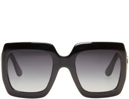 Gucci - Black Large Square Sunglasses