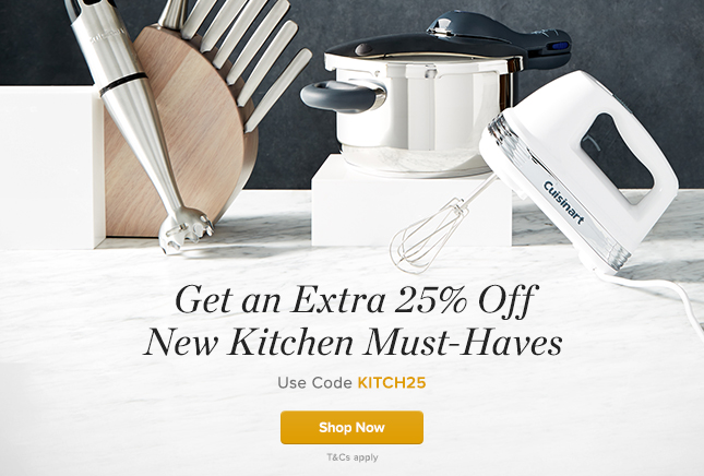 Extra 25% Off New Kitchen Must Haves
