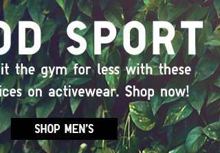 Limited Time only prices on activewear - Shop Men's