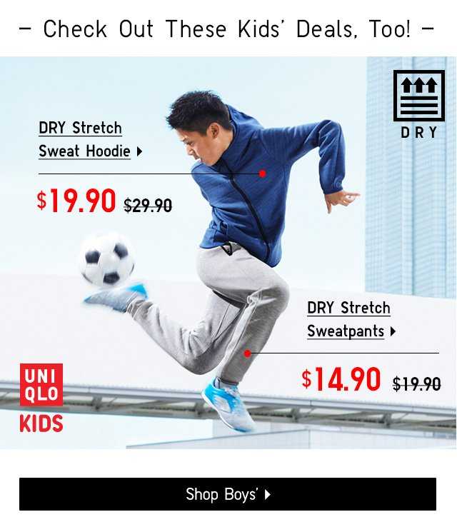 Limited Time only prices on activewear - Shop Boys'