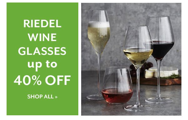 Riedel Wine Glasses up to 40% OFF