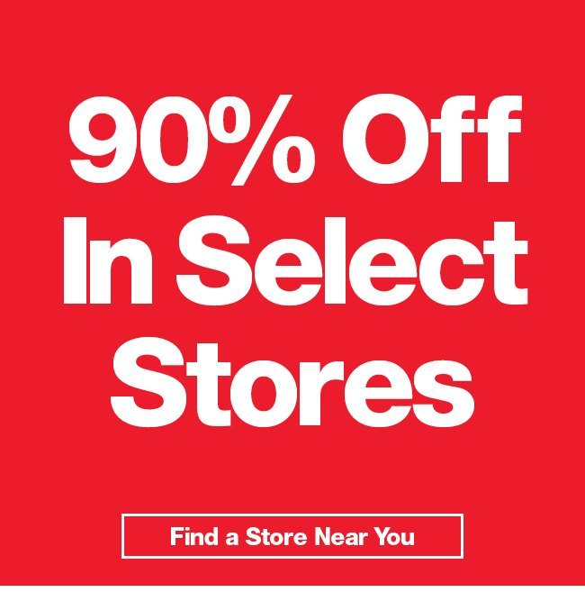 Take 90% Off In-Store.