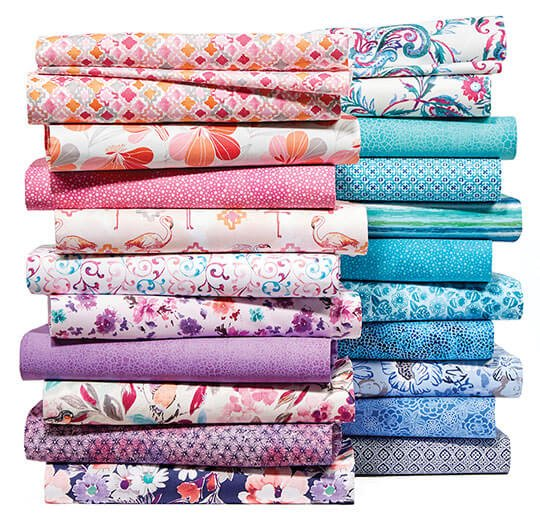 Keepsake Calico Fabrics and Quilters Showcase Cotton Prints.