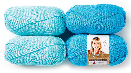 Lion Brand Vannas Choice Yarn.