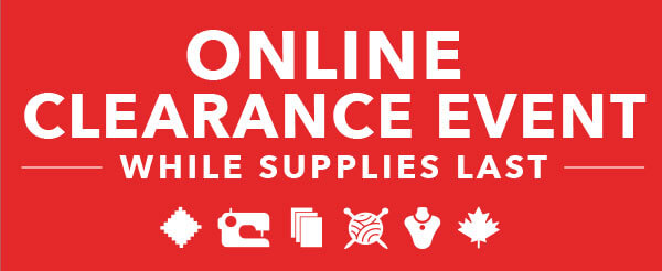 Online Clearance Event. While Supplies Last.