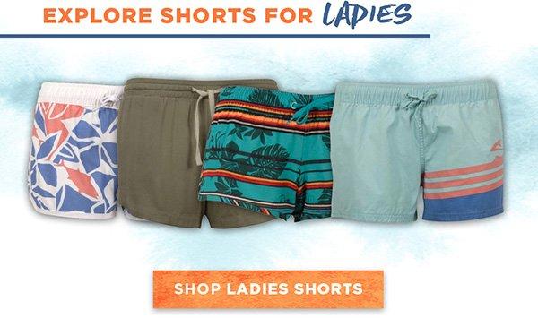 Explore shorts for ladies.