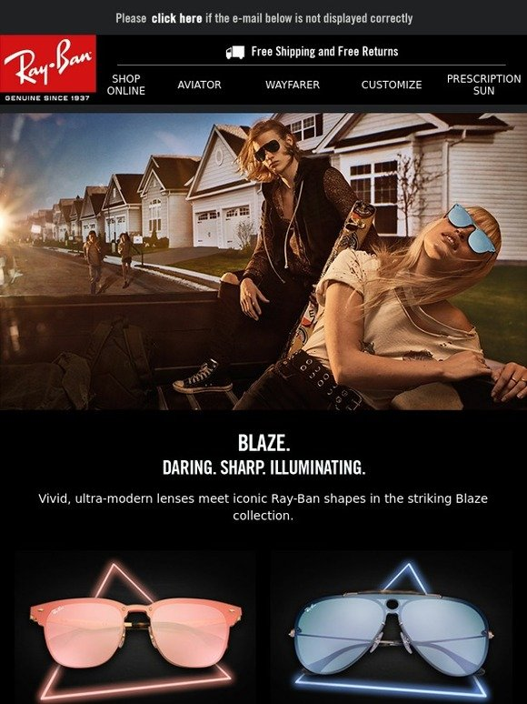 dc808981bb Ray-Ban  Be Bold with Blaze  Ray-Ban s hottest launch of the year ...