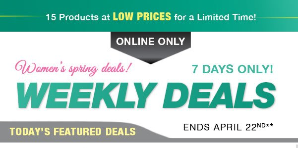 Shop our Weekly Deals!