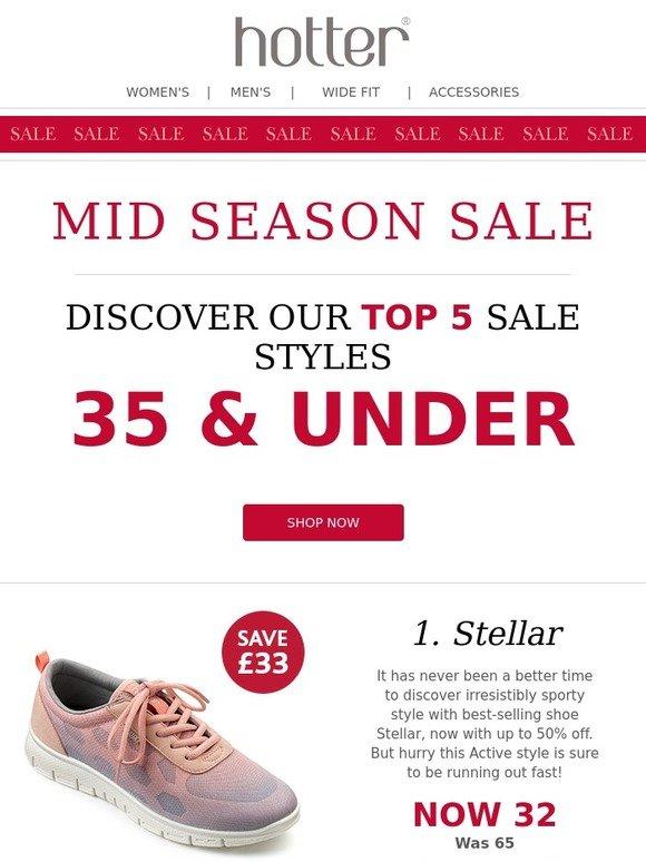 Hotter Shoes: Shoes Under £35! The Mid