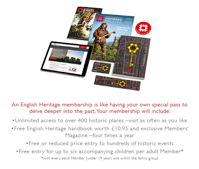 What membership with English Heritage includes