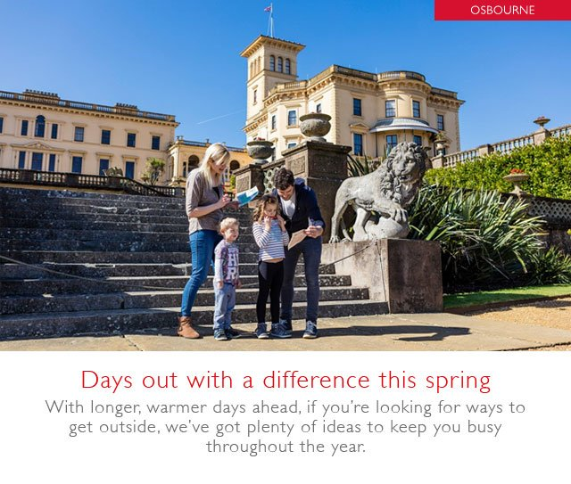 Days out with a difference this spring
