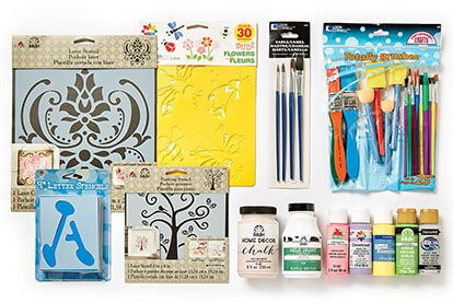 Paint Brushes, Stencils and Fab Lab Tools for Makers.