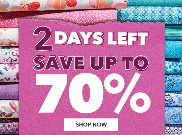 2 Days Left. Save up to 70%.