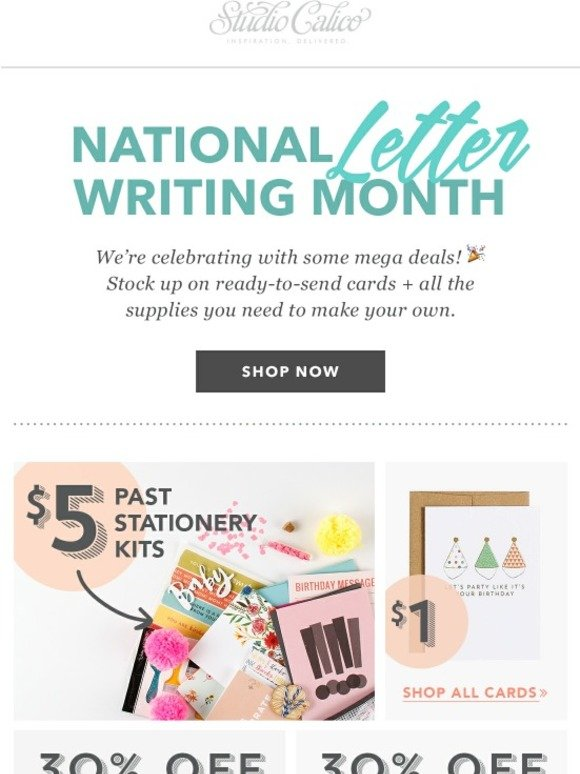 national letter writing month studio calico it s national letter writing month milled 23752