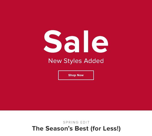 New Sale Styles