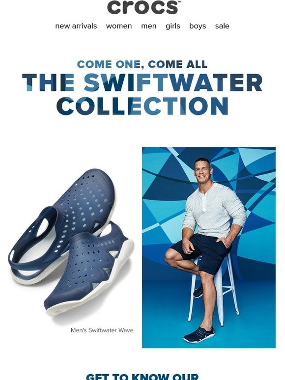 e76fa9af2c688 Crocs  Check out superstar John Cena in our Swiftwater Collection ...