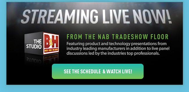 Streaming Live Now! The Studio - From the NAB Tradeshow Floor