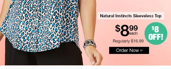 Natural Instincts Sleeveless Top