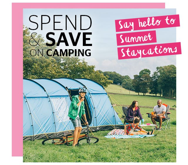 Spend and Save on Camping