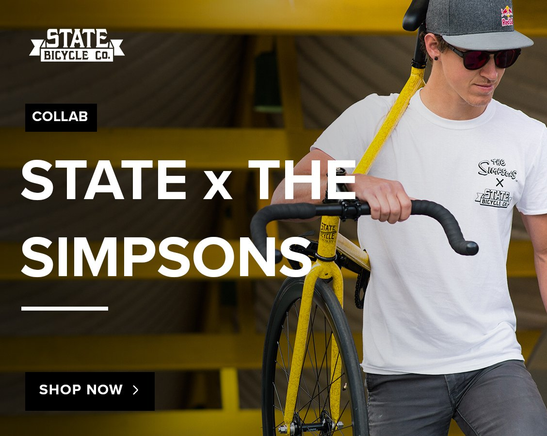 8c63ff7c9 The State Bicycle Co. x The Simpsons collaboration is now available at City  Grounds! Check out 3 versions of State s 4130 core-line bikes
