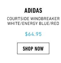 Adidas Courtside Windbreaker Jacket - White Energy Blue Energy Red 4080f6fb1b5