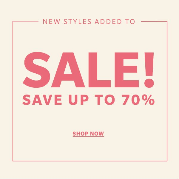Save up to 70 percent on clothing, shoes, accessories, and more!