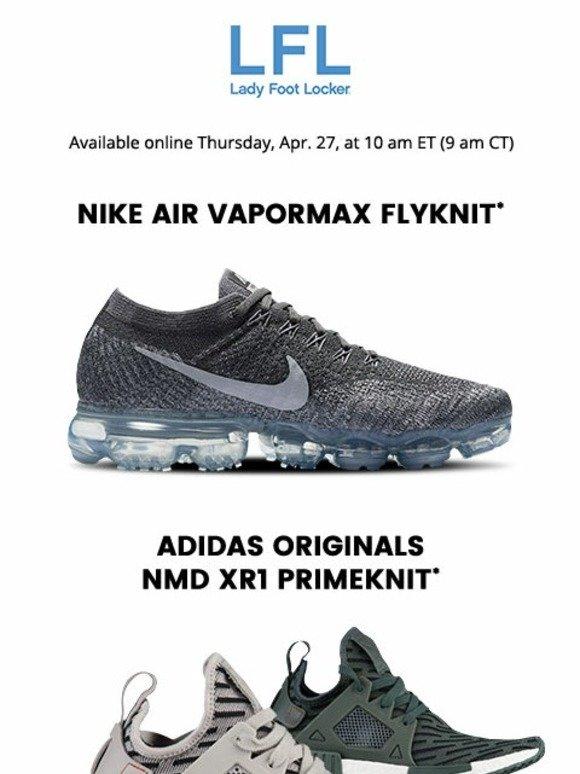 9b026df9cbf Lady Foot Locker  Nike Air VaporMax Flyknit and adidas Originals NMD –  available 4.27