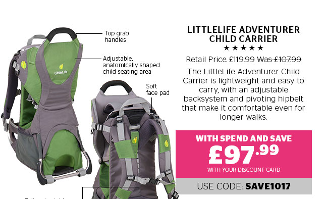 LittleLife Adventurer Child Carrier
