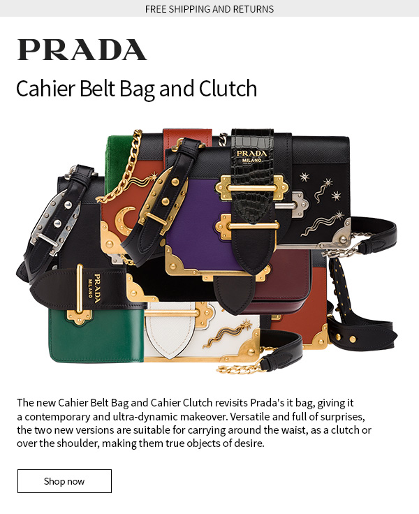 672b4c9d6d05 Prada: PRADA presents the Cahier Belt Bag and Cahier Clutch | Free ...