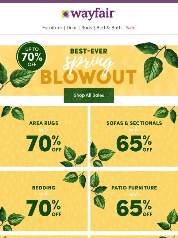 Wayfair Our Spring Blowout You Need To See These Prices
