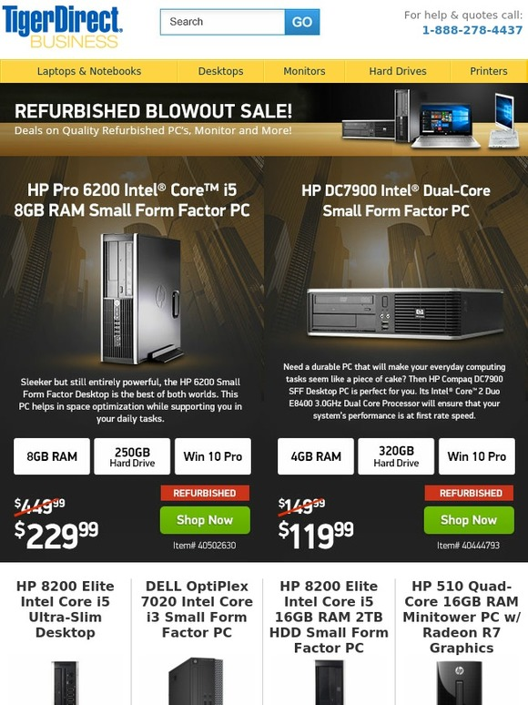 TigerDirect: Sunday Specials! Desktops from $119 | Panasonic