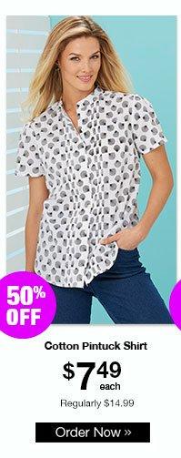 Cotton Pintuck Shirt