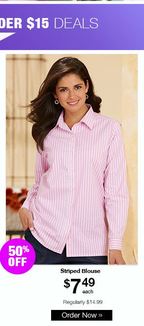 American Sweetheart Striped Blouse